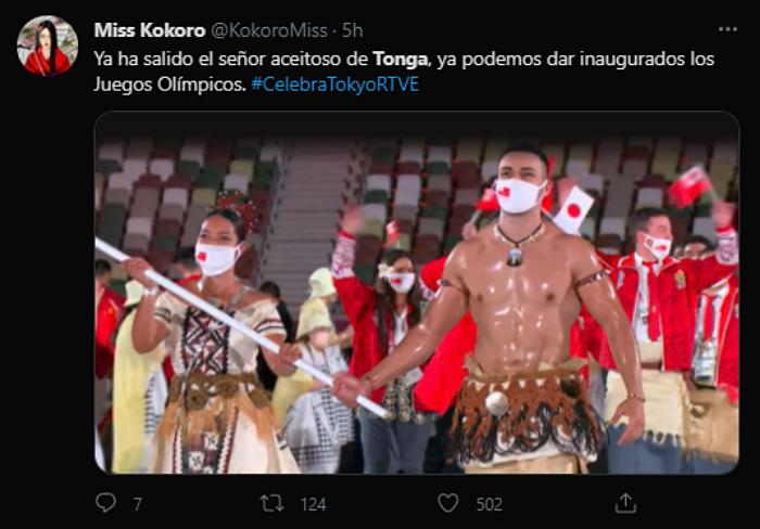 reacciones, memes, comentarios sobre Pita Taufatofua en los juegos olímpicos de tokio