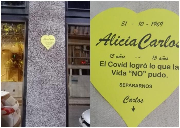cartel en calle Italia y Córdoba en Rosario, Argentina