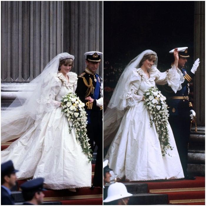 Su vestido de novia de 1981