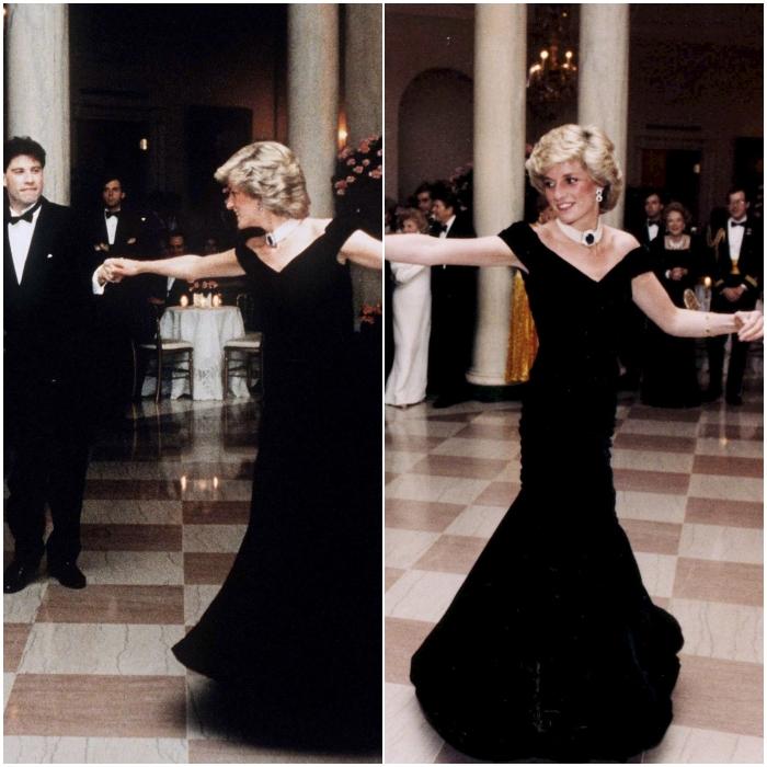 Con el que bailó con John Travolta en 1985