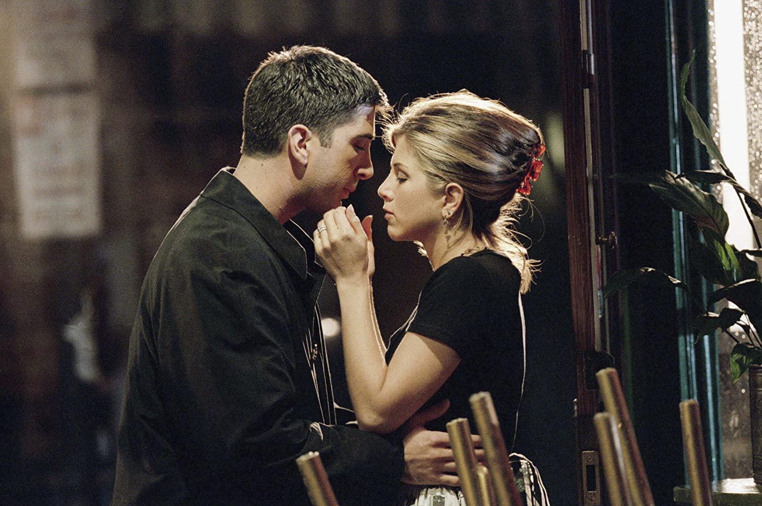 Escena de Friends ;¡Justo en el corazón! Jennifer Aniston y David Schwimmer no están saliendo