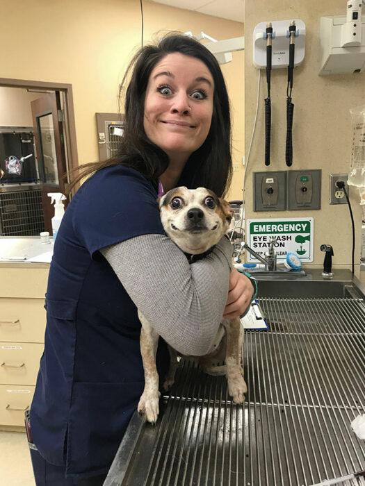 Perro haciendo caras ;20 Mascotas que se mostraron amorosamente agradecidos con sus veterinarios