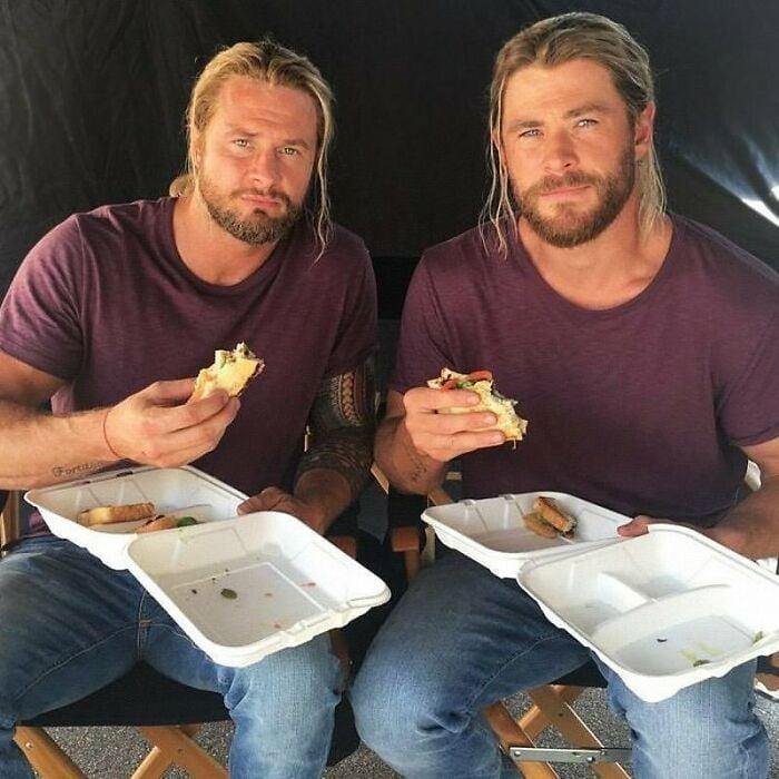 Chris Hemsworth ;18 Celebridades con dobles de acción tan idénticos que te harán ver doble