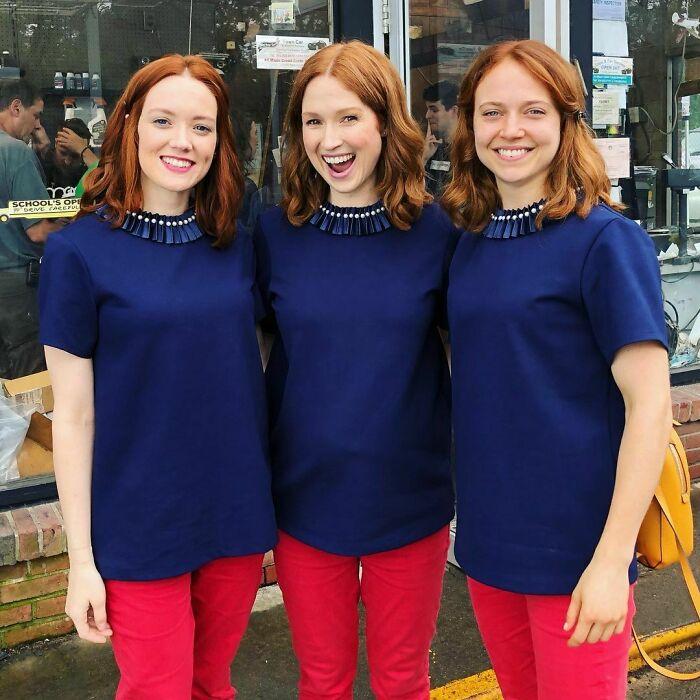 Ellie Kemper ;18 Celebridades con dobles de acción tan idénticos que te harán ver doble
