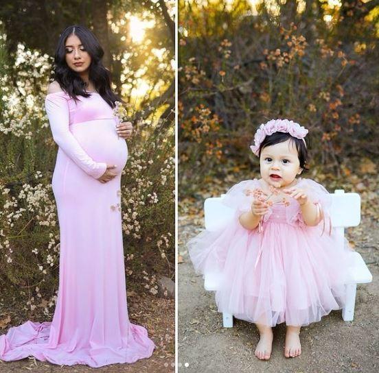 Madre e hija en sesión de fotos; Adalyn Rose cumple un año tras la trágica muerte de su madre embarazada por una conductora ebria