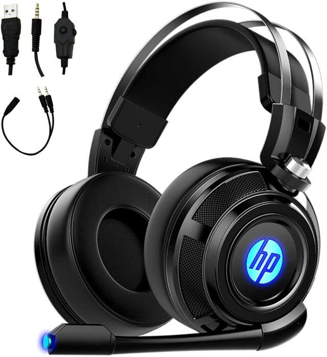 Audífonos de color negro con sonido envolvente