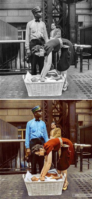 Fotografía blanco y negro modificada con colores vivos