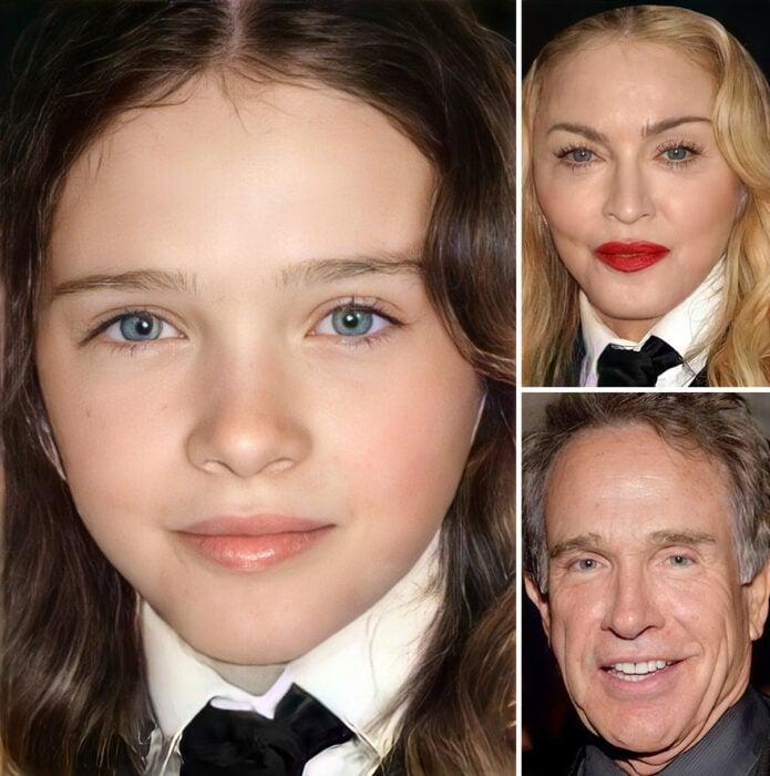 Mezcla de imágenes actores para ver cómo serían sus hijos si los tuvieran