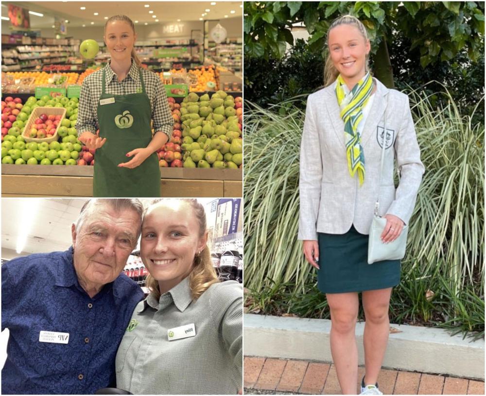 Chica trabajando en el supermercado; Atleta olímpica sin patrocinadores trabajó en un supermercado para financiar su sueño de Tokio 2020