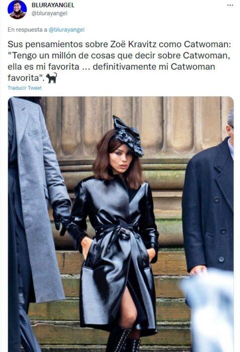 Zoë Kravitz como catwoman en película de Batman