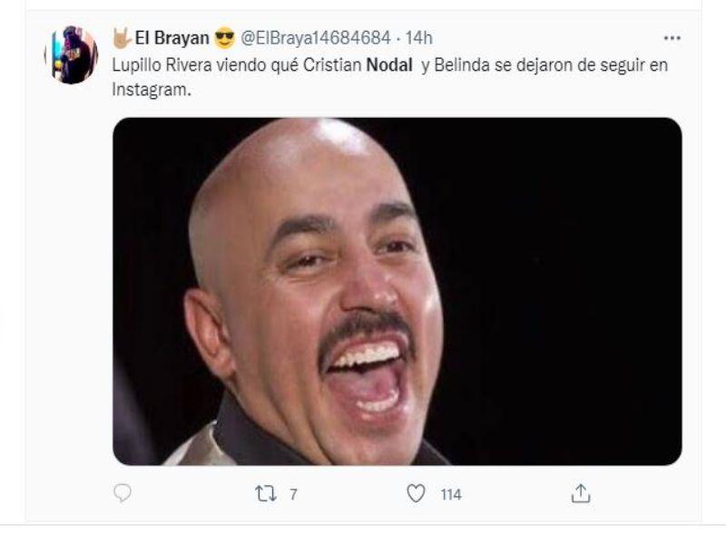 Lupillo Rivera ;Belinda y Nodal podrían haber dado fin a su relación y se desatan lo memes en redes