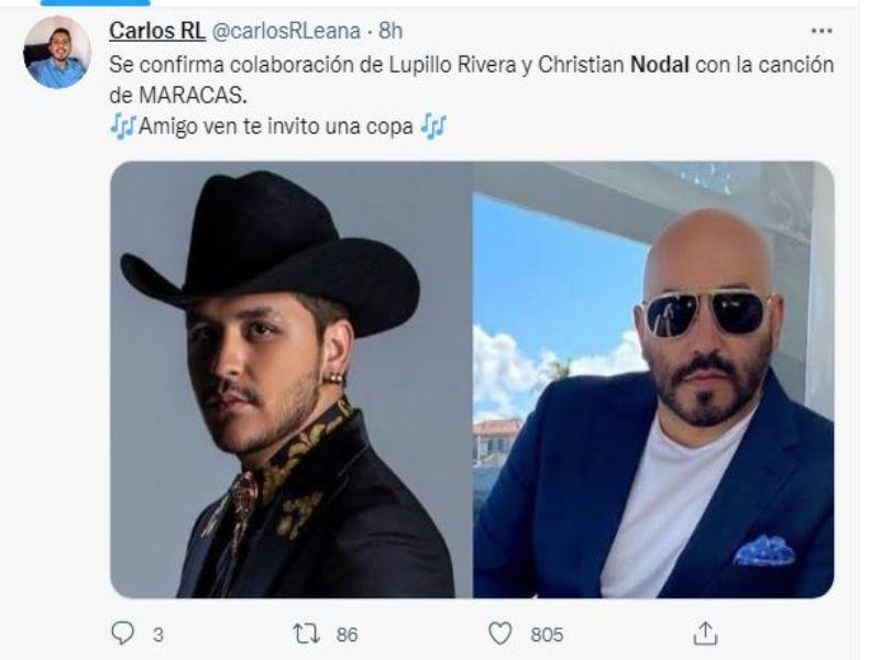 Tuit de Nodal y Lupillo ;Belinda y Nodal podrían haber dado fin a su relación y se desatan lo memes en redes