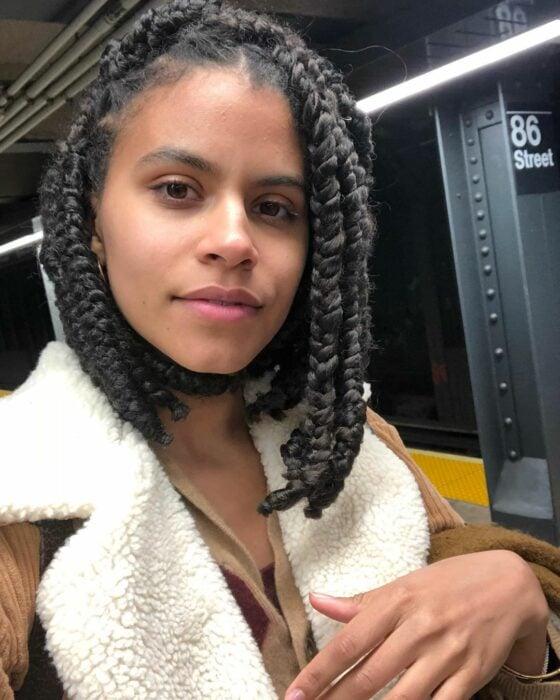 cabello con trenzas africanas ;14 Ideas para cortar tu cabello estilo midi que te encantarán