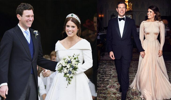 Famosas usando dos vestidos de novia el día de su boda
