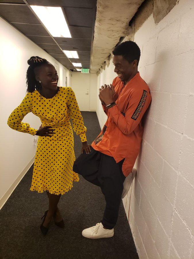 Lupita Nyong'o; Fans y celebridades recuerdan a Chadwick Boseman a un año de su muerte