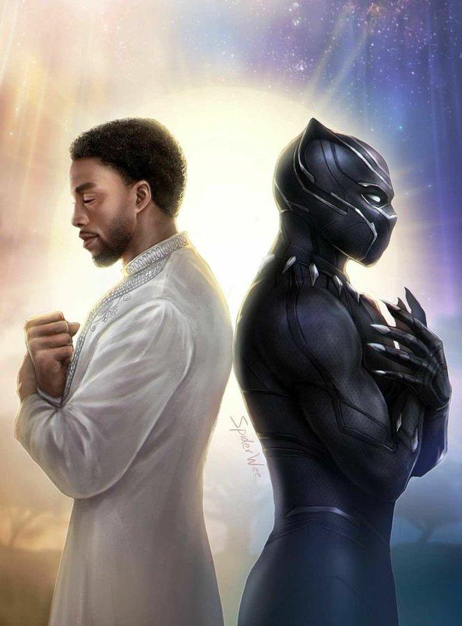 Poster de Black Panther; Fans y celebridades recuerdan a Chadwick Boseman a un año de su muerte