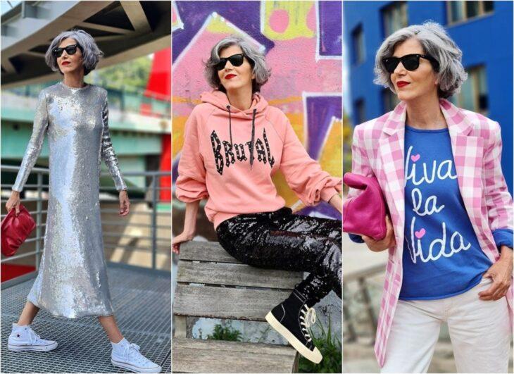 La influencer de 58 años que mostró que la moda no está peleada con la edad: ama usar tenis