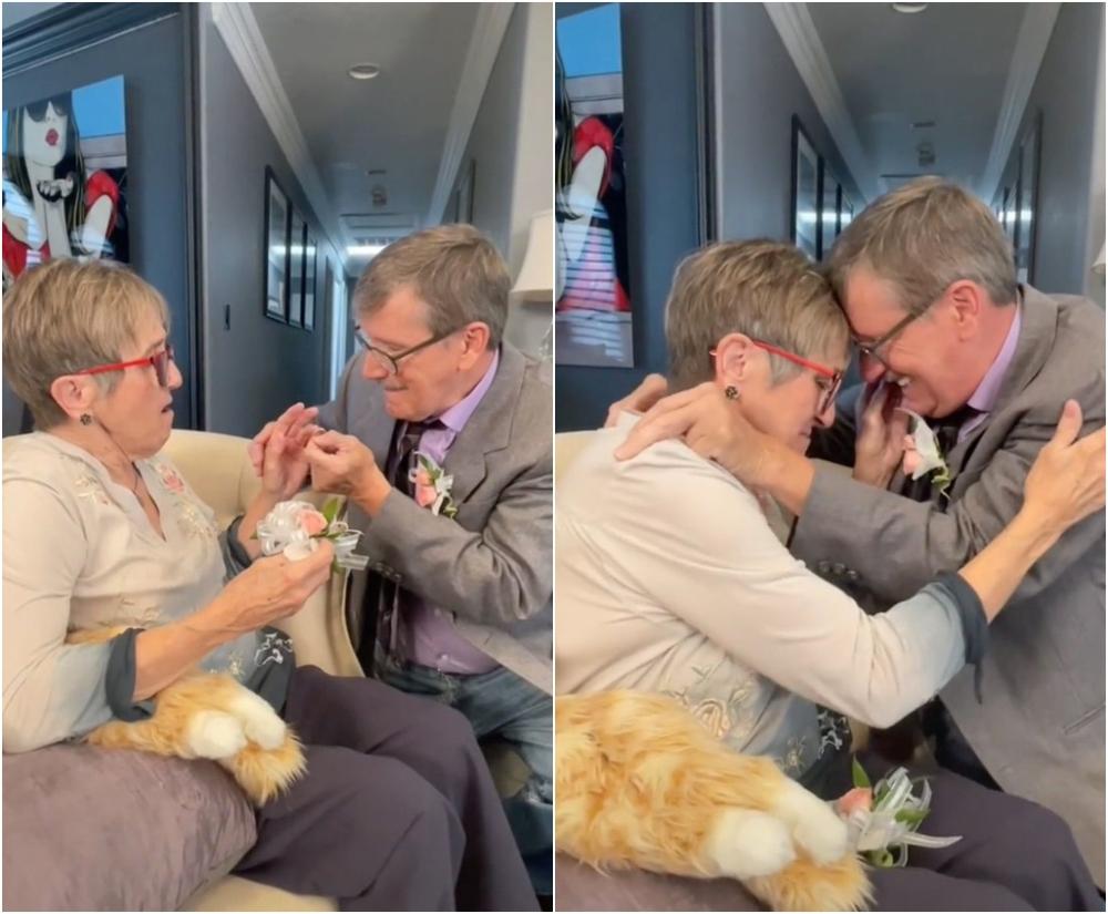 Le pide matrimonio a su esposa con Alzheimer cada semana y comprueba que el amor sí existe