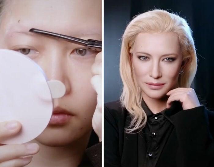 Cate Blanchett ;Maquillista se transforma en celebridades y te hará sentir que ves doble
