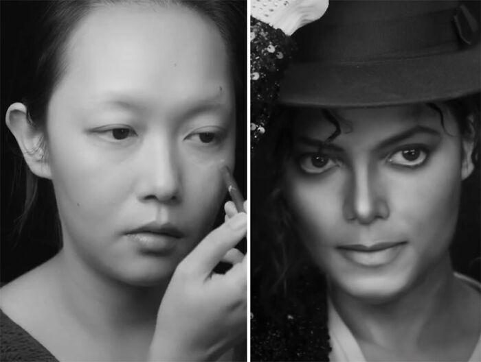 Michael Jackson; Maquillista se transforma en celebridades y te hará sentir que ves doble
