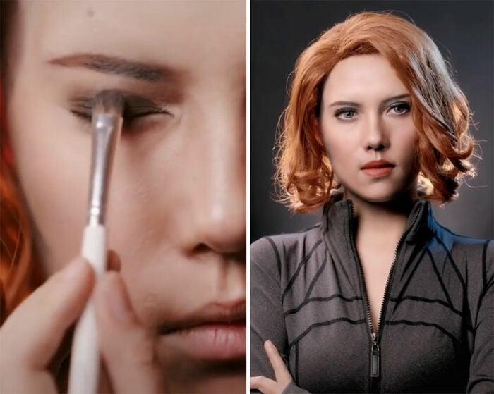 Scarlett Johansson; Maquillista se transforma en celebridades y te hará sentir que ves doble
