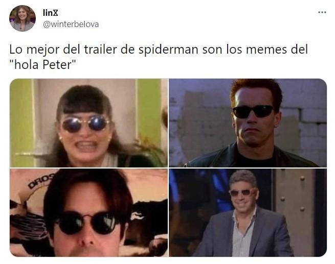 Meme en twitter ;Marvel revela el tráiler de 'Spider-Man: sin camino a casa' y desata memisa