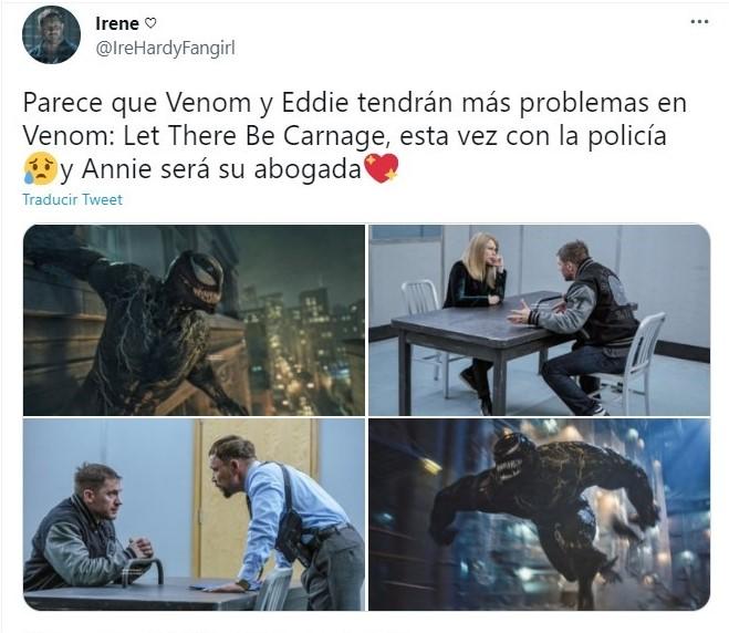 Tuit sobre poster oficial de 'Venom 2' y la carita de Tom Hardy te hará suspirar de amor