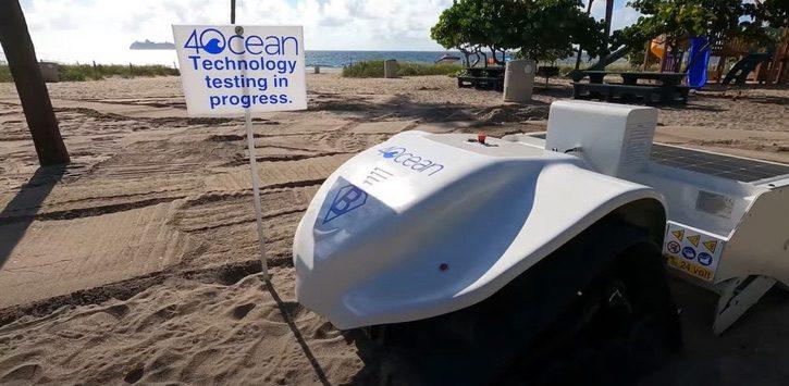 Robot que ayuda a limpiar las playas