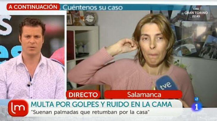 Mujer en entrevista de TV; Se queja de su vecina por hacer ruido en el delicioso y la terminan multando a ella por metiche