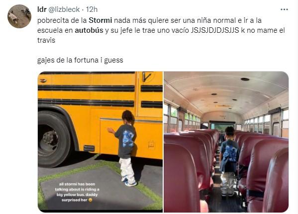 memes de twitter sobre el regalo de Travis Scott a Stormi