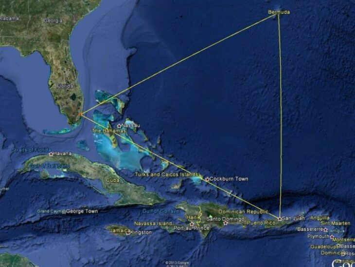 Mapa del triangulo de las bermudas; Thomas Brown, el hombre que estuvo 7 años en el triángulo de las Bermudas y sobrevivió