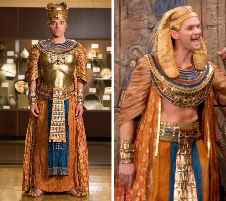 Repetición de vestuario en diferentes producciones de Hollywood
