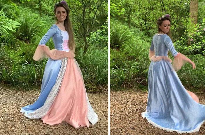 El vestido de Erika de Barbie como la princesa y la mendiga