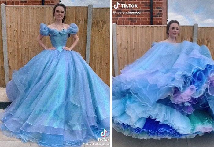 Cenicienta; Recrea los vestidos más famosos de princesas Disney y Barbie y el resultado es increíble