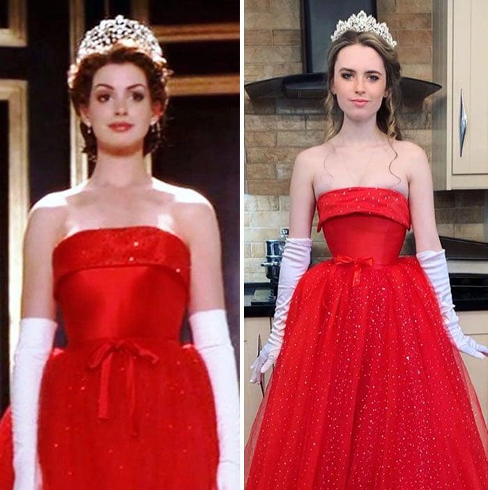 Mia Thermopolis; Vestidos inspirados en Barbie y Princesas Disney