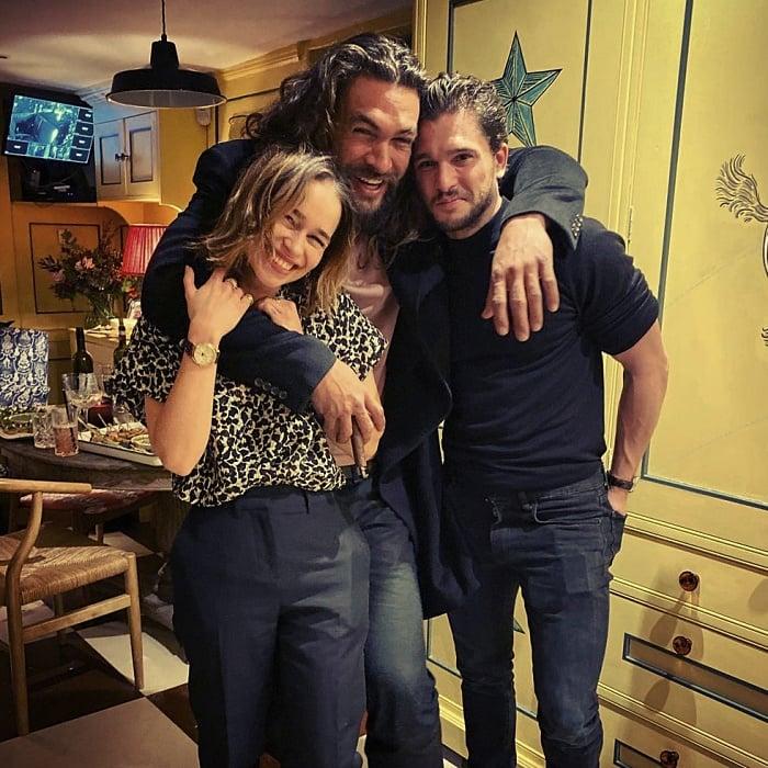 Jason Momoa, Emilia Clarke y Kit Harrington