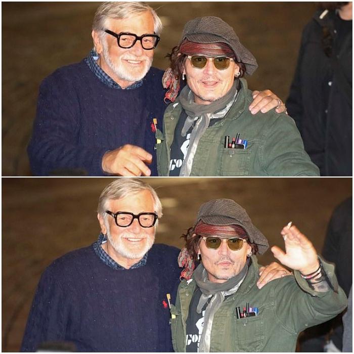 Jiri Bartoska y Johnny Depp