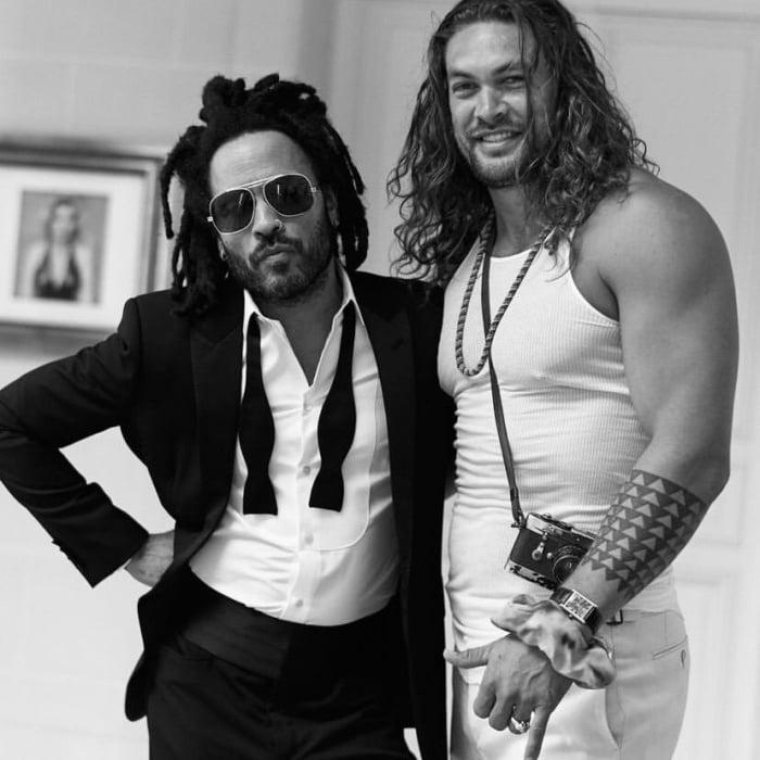Lenny Kravitz y Jason Momoa