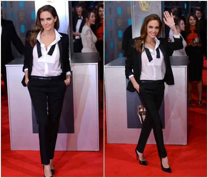 El traje de Saint Laurent en los BAFTA 2014