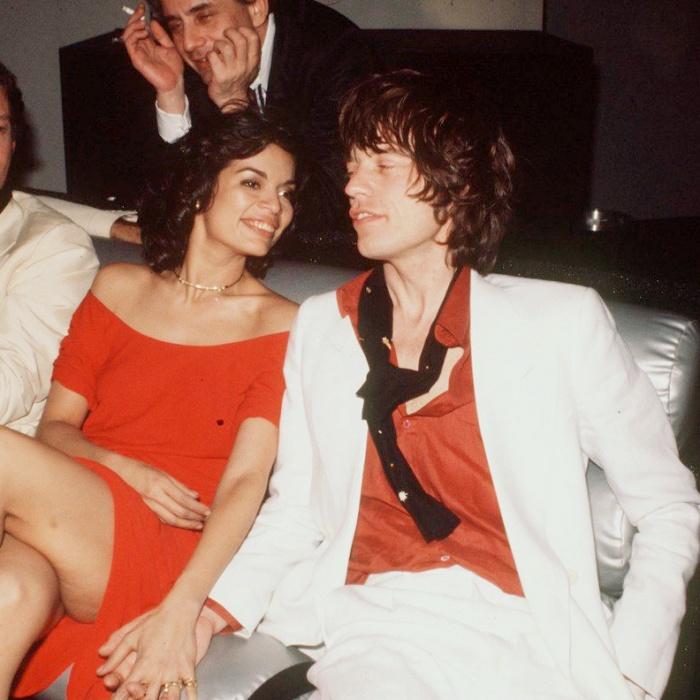 Bianca Pérez-Mora y Mick Jagger