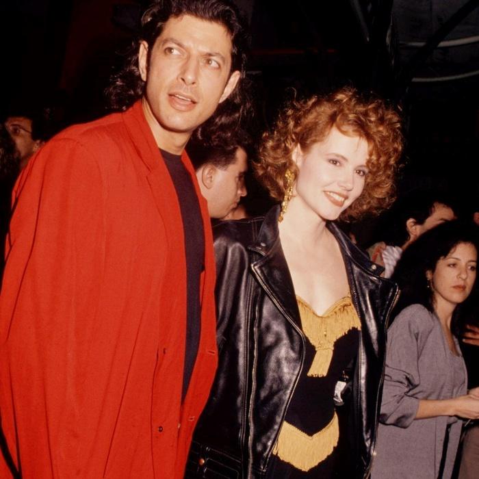 Geena Davis y Jeff Goldblum