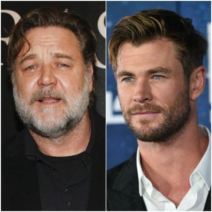 Russell Crowe y Chris Hemsworth
