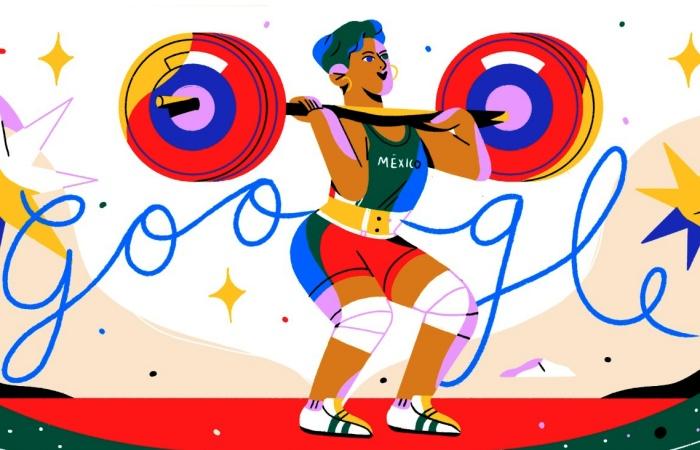 Soraya Jiménez en un doodle de Google