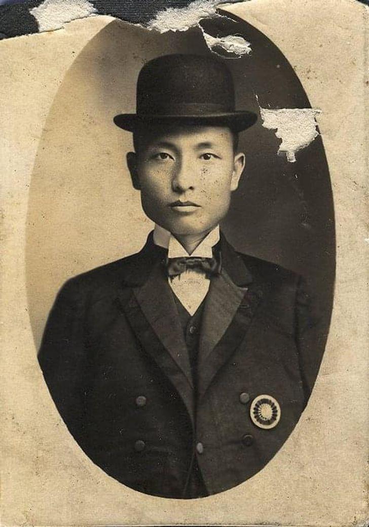 hombre en retrato antiguo ;20 Personas que no necesitaron de Photoshop en su juventud para verse glamurosas