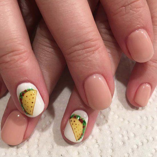 Uñas con taquitos ;20 Ideas para darle a tus uñas un estilo mexicano y lleno de color
