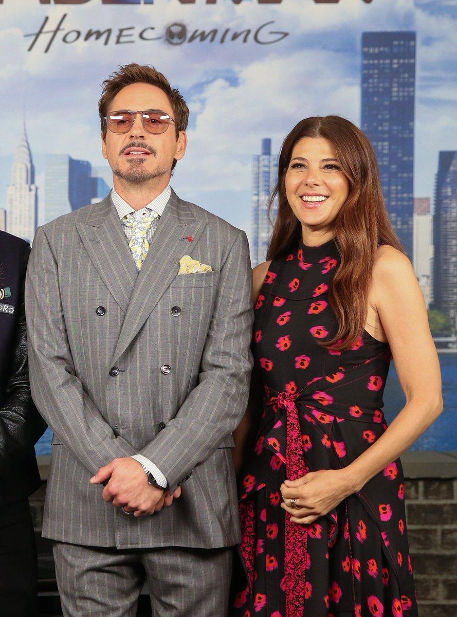 Robert Downey Jr. y Marisa Tomei; Actores del MCU que se enamoraron dentro y fuera del set