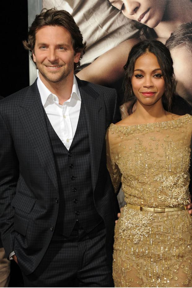 Zoe Saldaña y Bradley Cooper; Actores del MCU que se enamoraron dentro y fuera del set