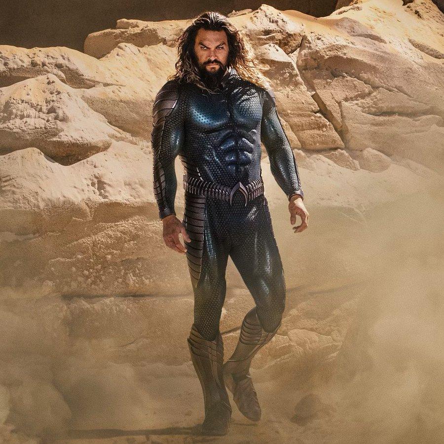 Jason Momoa en imagen promocional de Aquaman 2; 'Aquaman 2' podría ser boicoteada tras la aparición de Amber Heard