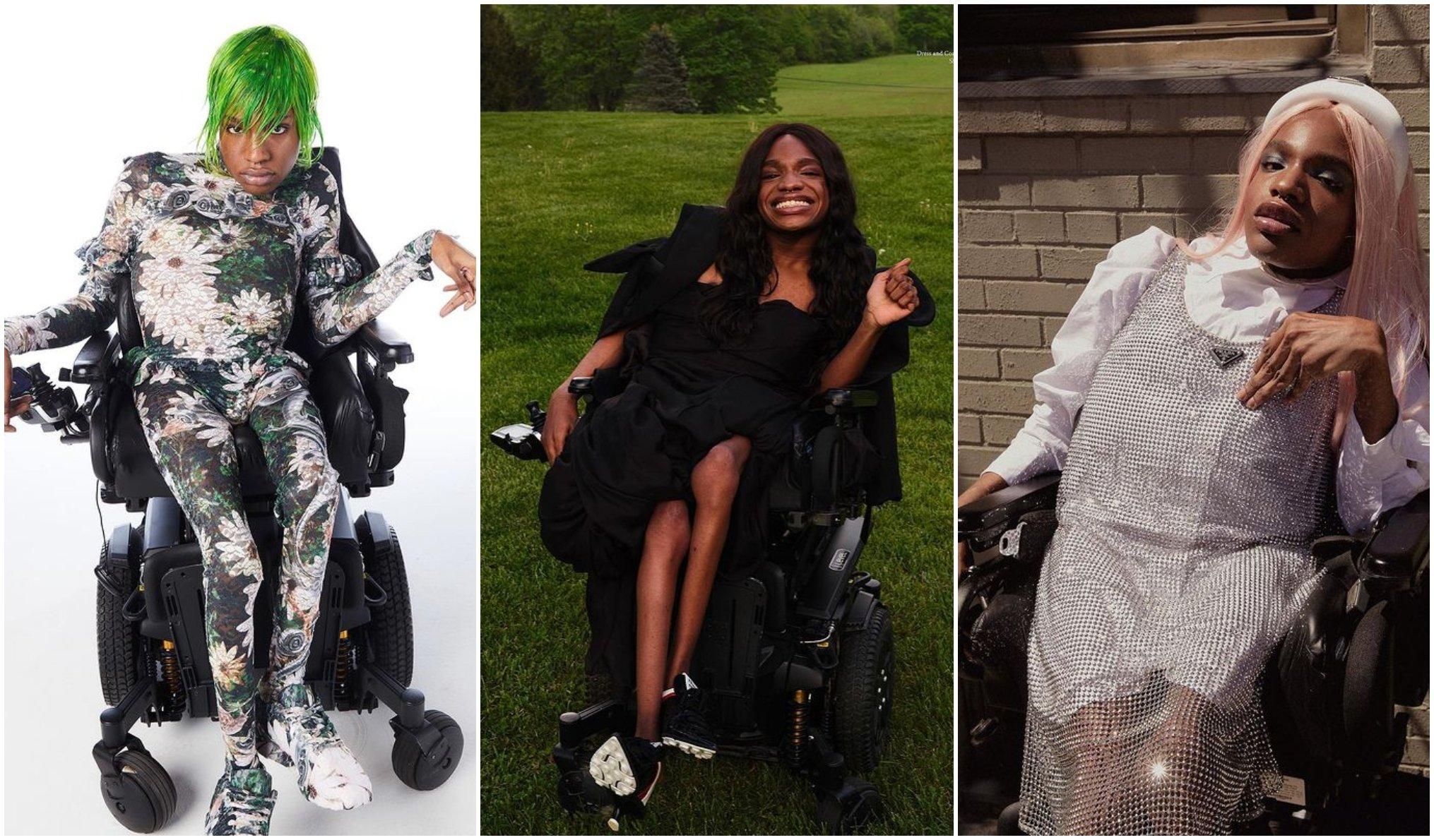 Aaron Rose Philip, la primera modelo trans con discapacidad en desfilar alta costura
