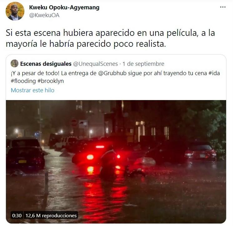 Tuit; Buscan a repartidor que luchó contra la inundación para entregar su pedido y darle una fortuna